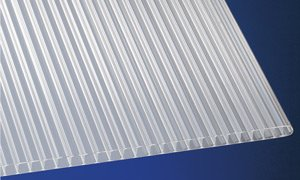 Polypropylen Stegplatten Hohlkammerplatten weiß-opal 2000 x 1000 x 8 mm