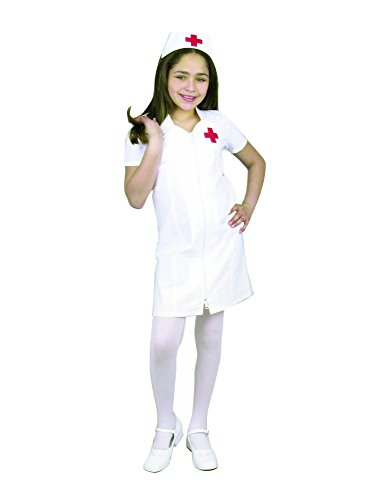 Charades Child's Registered Nurse Costume Dress, White, Medium