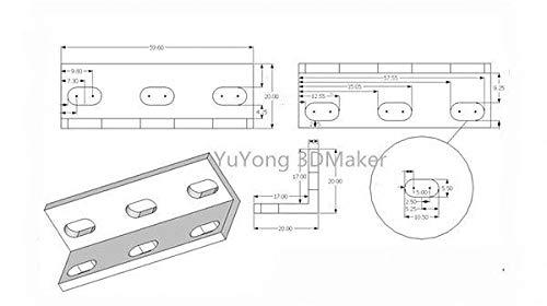 Impresora 3D - 10 piezas/lote minorista triple soporte universal L ...