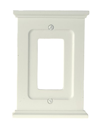 - Amerelle Mantel Single Rocker Wood Wallplate in White