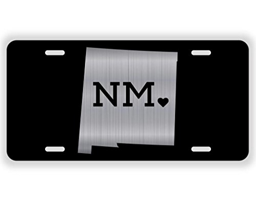(JMM Ind New Mexico Love NM ♥ Vanity Novelty License Plate Tag Metal 12-Inches by 6-Inches Etched Aluminum UV Resistant)