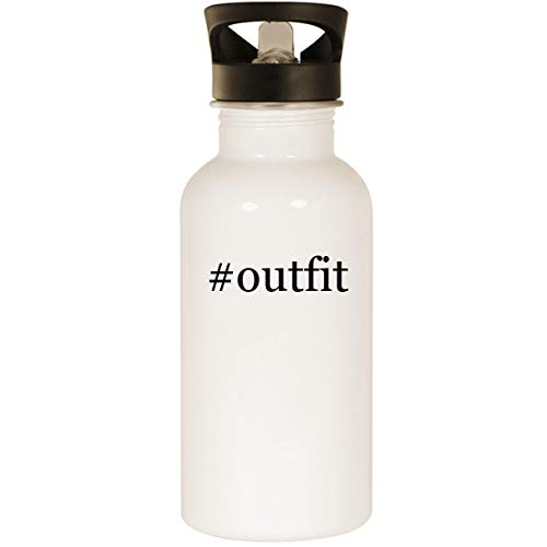 #outfit - Stainless Steel Hashtag 20oz Road Ready Water Bottle, White ()