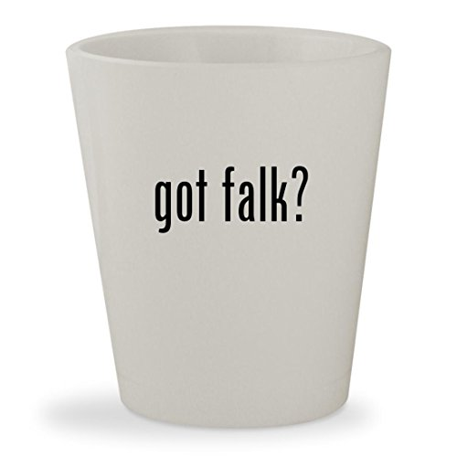 got falk? - White Ceramic 1.5oz Shot Glass