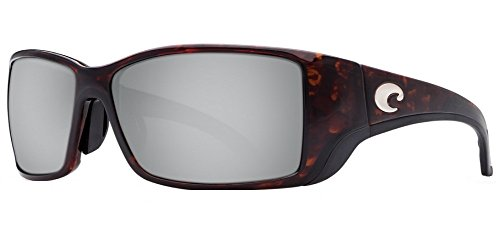 Costa Del Mar Blackfin Sunglasses, Tortoise, Silver Mirror 580 Plastic - Direct Sunglass