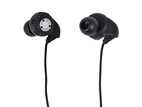 Monoprice Enhanced Bass Hi-Fi Noise Isolating Earbuds Headphones - Black, Gold-Plated 3.5mm Stereo Plug