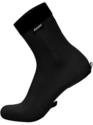 Santini Black 365 Lycra Tt Cycling Overshoe (M/L, Black) ()