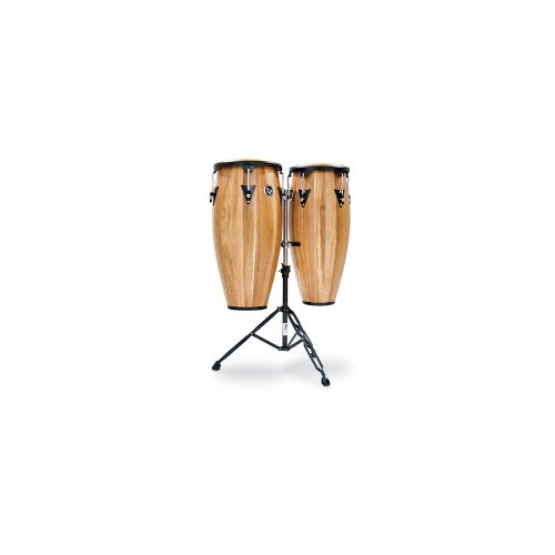 (LP LPA646 - Siam Walnut Aspire Conga Set 10 inch and 11 inch with Double Stand)