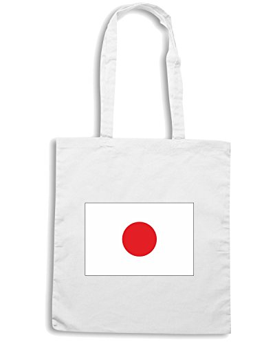 T-Shirtshock - Bolsa para la compra TM0202 Japan flag Blanco