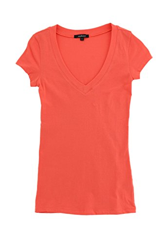 Ambiance Classic V-Neck Short Sleeve Tee (Coral (Orange Upgrade T-shirt)
