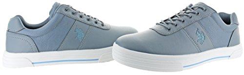 S U Assn Polo Grey Helm Pebbled Men's Fashion Sneaker vxg1q