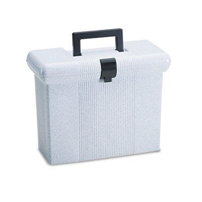 Portafile File Storage Box, Letter, Plastic, 14-7/8 x 6-1/2 x 11-7/8, Granite, Sold as 1 Each