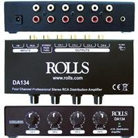Rolls 4-Channel RCA Distribution Amplifier, +12 dBV Max -