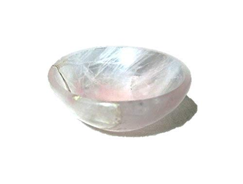 Jet Natural Rose Quartz Bowl 2