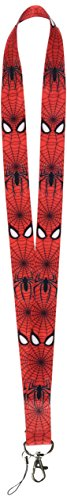 The Amazing Spiderman Lanyard Keychain Set (Red Web)