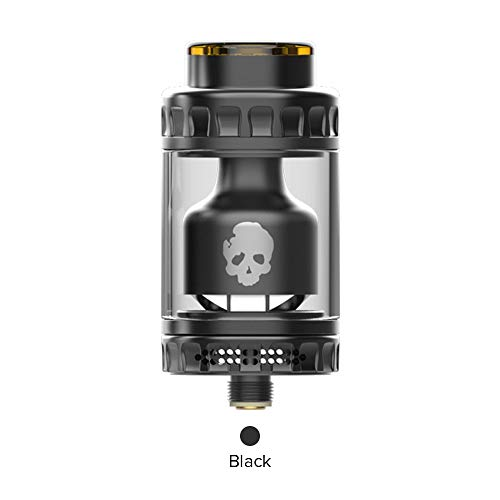 E Cigarette Vaporizer, DOVPO BLOTTO RTA Top Refill Vaporizer 2ml with Glass Bubble Tube 6ml-Without Nicotine Without Tobacco (Black)