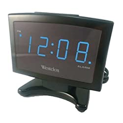 Westclox 70014X Blue Led Plasma Alarm Clock