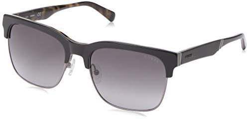 GUESS Men's Gu6912 Wayfarer Sunglasses, black & gradient smoke, 58 ()
