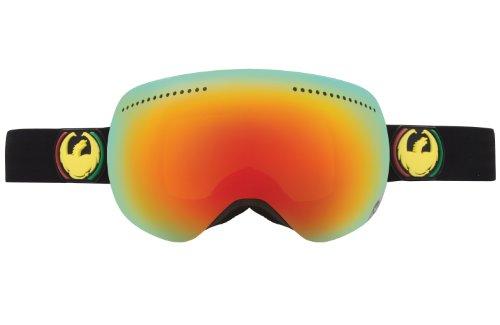 Rasta Ski (Dragon Alliance APX Ski Goggles, Rasta/Red Ion + Yellow Blue)