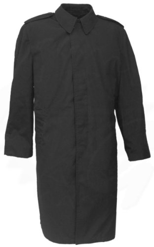 U.S. G.I. Trench Coat, All Weather, Black w/Removable Liner (Large) ()