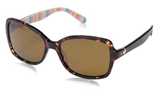Kate Spade Women's Ayleenps Polarized Rectangular Sunglasses, Havana Pattern Multi/Brown, 56 - Kate Sunglasses Spade Polarized
