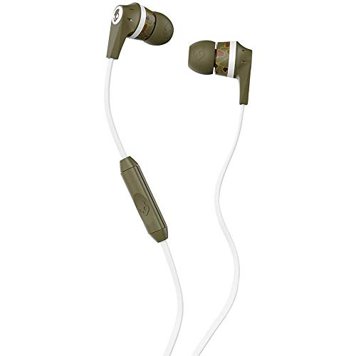 Skullcandy Inkd 2.0 Wired Earbuds with In-Line Microphone and Remote, Tangle-Reducing Flat Cable, Noise-Isolating Supreme Sound with Powerful Bass and Precision Highs, Standard Issue