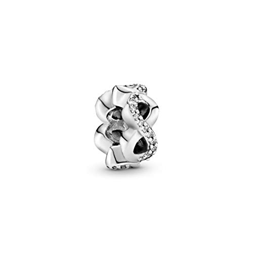 Pandora Jewelry - Sparkling Infinity Spacer Charm in Sterling Silver with Clear Cubic Zirconia