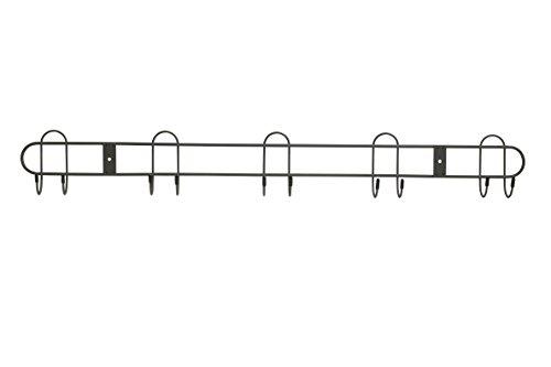 Industrial Rakes - Spectrum Diversified Spectrum Wall Mount 10-Hook All Purpose Rack, Industrial Gray