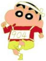 クレヨンしんちゃん ピンバッジ マラソン