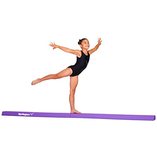 Springee 9ft Balance Beam - Extra Firm Folding Gymnastics Beam - Practice Gymnastics Equipment for Home - The Safe Balance Beam for Kids