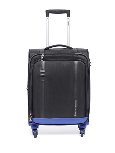 VIP Polyester 57 cms Black Softsided Cabin Luggage (Tristen)