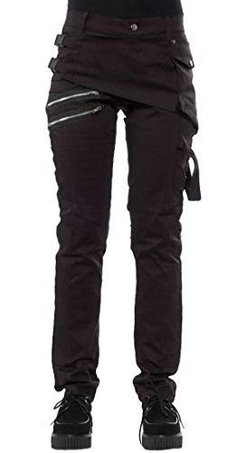heymoney-Mens-Jeans-Casual-Rock-Gothic-Punk-Revits-Denim-Pants-Trousers-Black-XL