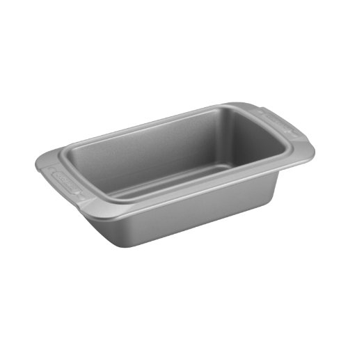 Cake Boss Deluxe Nonstick Bakeware 9-Inch x 5-Inch Loaf Pan, Gray