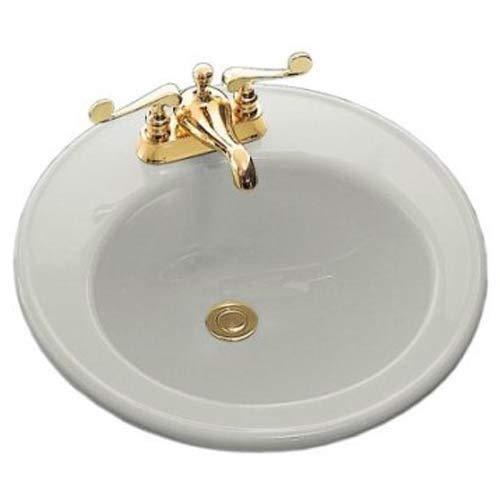 KOHLER K-2202-4-95 Brookline Self-Rimming Bathroom Sink, Ice Grey