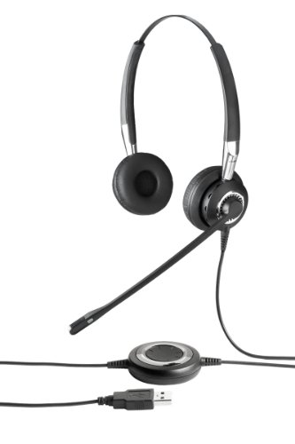Jabra BIZ 2400 USB MS Duo Lync Optimized Corded Headset for Softphone and Mobile Phone