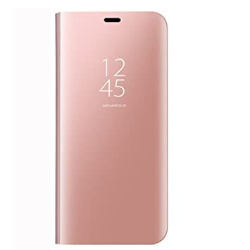 40a9473eb11 Samsung Galaxy J7 2017 espejo Funda de espejo Flip Case, Espejo Reflexión  Brillante Ultra fino duro Anti-Scratch de para Samsung Galaxy J7 2017(Oro  rosa): ...