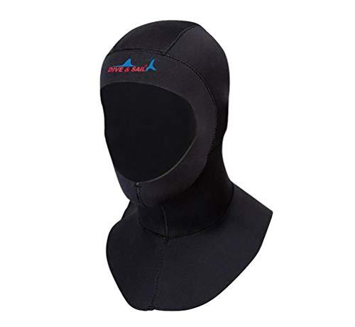 DIVE & SAIL Unisex Men Women 3 mm Neoprene Diving Hood Collar for Diving Surfing