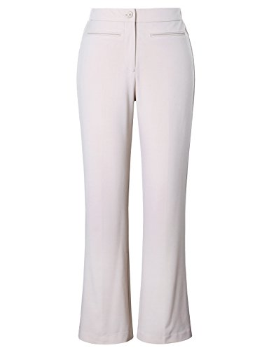 Chicwe Women's Plus Size Curvy Fit Boot Cut Pants - Casual and Work Pants Trousers Ivory 24