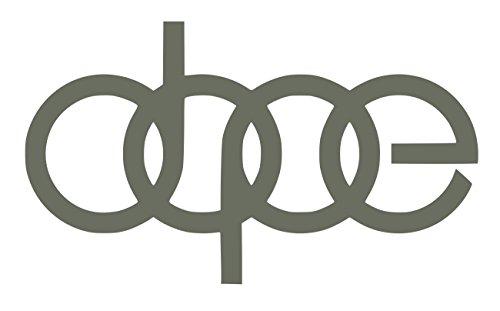 UR Impressions Gry Dope Decal Vinyl Sticker Graphics for Audi A3 A4 A5 A6 A8 Allroad S4 S5 S6 S7 RS 3 4 5 7 TT R8 Q3 Q5 SQ5 Q7 Car SUV Wall Window Laptop Gray 7 X 4.1 Inch URI232-G
