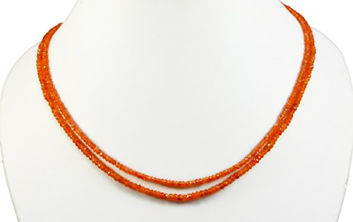 2/3/4/5 Multi Strings Orange Carnelian 5mm Size Faceted Beads Strings Necklace Gemstone (Orange-2 ()