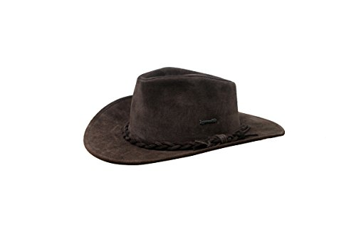 Lagomarsino Country Nobuk Leather Australian Hat Brown