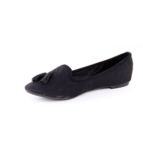 Damen Ballerinas Flats Designer Shoes Slippers New LADIES SHOES Black - Black 5SVJFigdNf