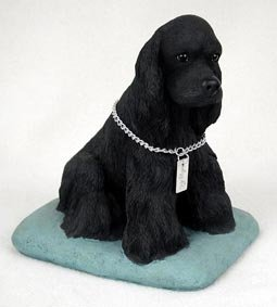 Figurine Cocker Spaniel Black (Conversation Concepts Cocker Spaniel Black My Dog Figurine)