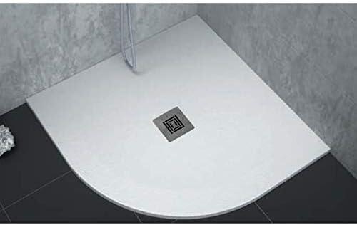 Plato de ducha extra plano LOGIC superficie pizarra, semicircular ...