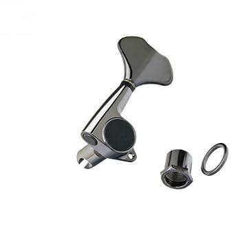 Clavijas cromadas Gotoh Cosmo Black (Linea - n455 N - Juego de 4 piezas: Amazon.es: Instrumentos musicales