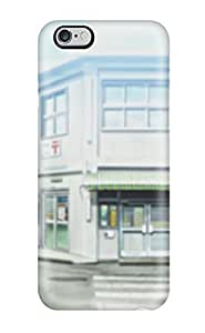 Durable Defender Case For Iphone 4/4s Tpu Cover(buildings Illustrations Roads Anime Nichijou)
