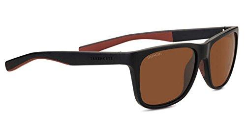 - Serengeti Classic Nylon Livio Sanded Black/Brown Polarized Drivers Sunglasses