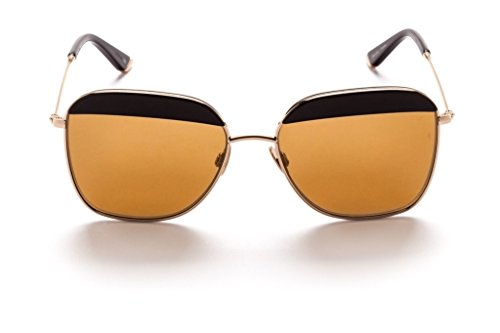 Sunday Somewhere Vito Sunglasses Black / Polished Yellow Gold Metal with Bronze Mirror - Sunglasses Sunday Somewhere