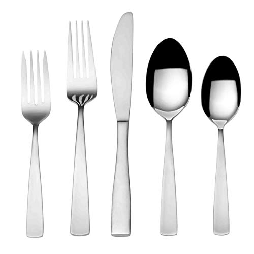 (International Silver 5216485 Maison Satin Flatware set 67 piece Silver)
