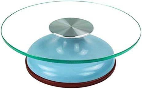 قوالب كيك دائرية زجاجية دائرية غير قابلة للانزلاق لتزيين الكعك من البلاستيك زجاج ازرق 30 9cm Amazon Ae
