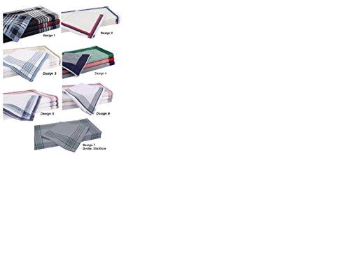 Betz 12 Stück Herren Stoff Taschentücher Set Größe 40x40 cm 100% Baumwolle verschiedene Farben (Design 4)